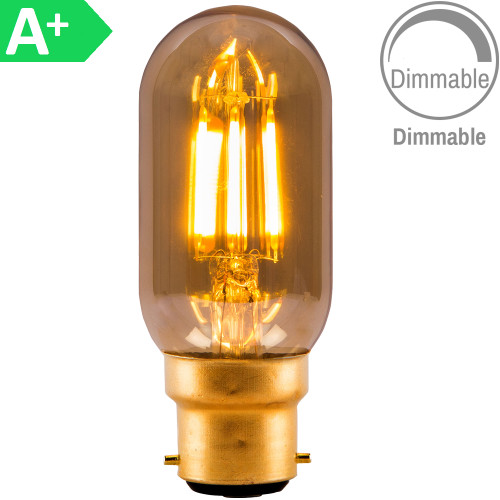 4w LED BC Tubular Amber Dimmable [3466186] | Lampspares.co.uk