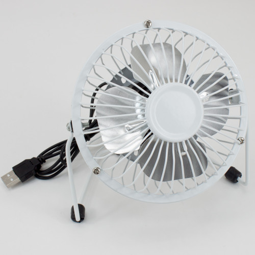 "4"" USB Fan Metal White Finish 3550831"