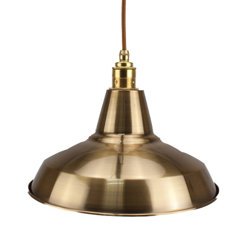 Antique Brass Light Shade 305mm Diameter With 40mm Hole 3981581