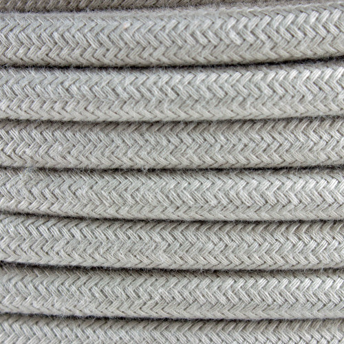Dove Cotton Round Fabric Cable 3 Core 4200449 | Lampspares.co.uk