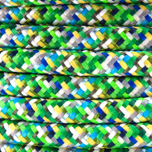 Pixel Green Round Fabric Cable 3 Core 4200443