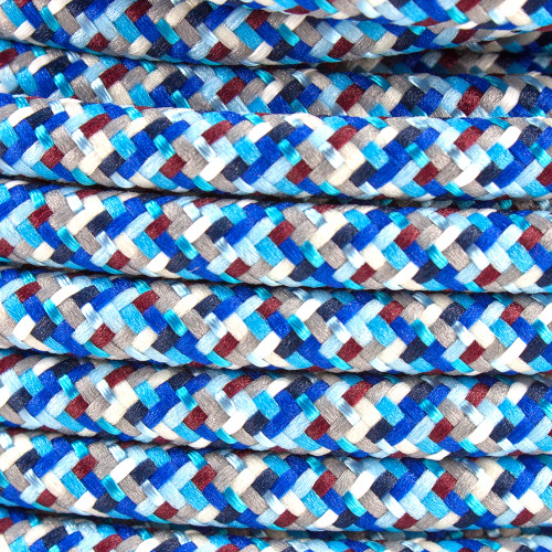 Pixel Blue Round Fabric Cable 3 Core 4200442 | Lampspares.co.uk
