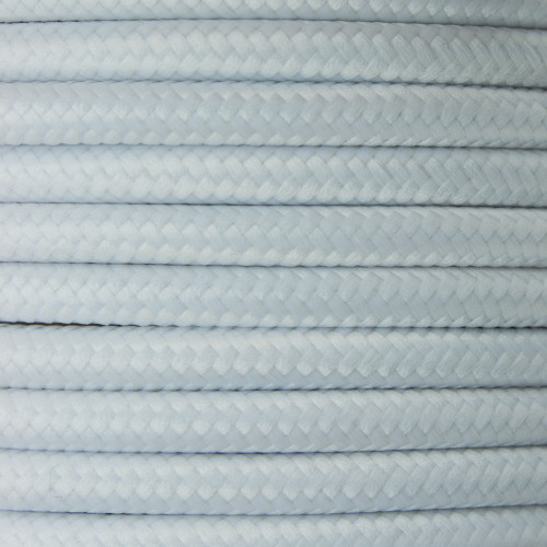 White Round Fabric Cable 3 Core 4295658 | Lampspares.co.uk