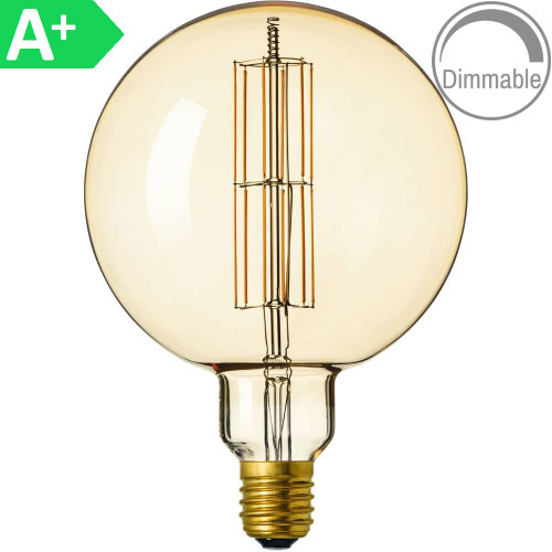 Giant 8w ES Antique Amber LED Filament 4297819 | Lampspares.co.uk