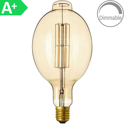 Giant 8w ES Antique Amber LED Filament 4297818 | Lampspares.co.uk