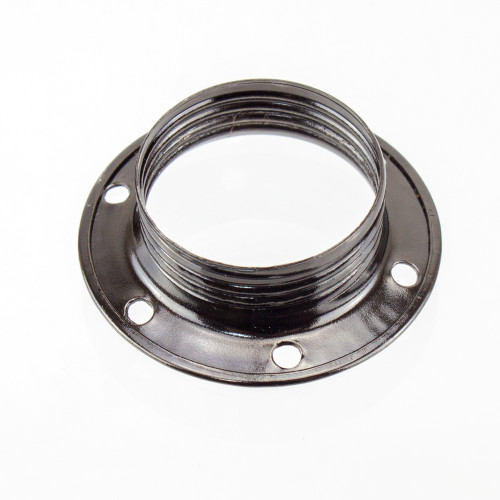 SES | E14 | Small Edison Screw Black Nickle Shade Ring 4663842 | Lampspares.co.uk