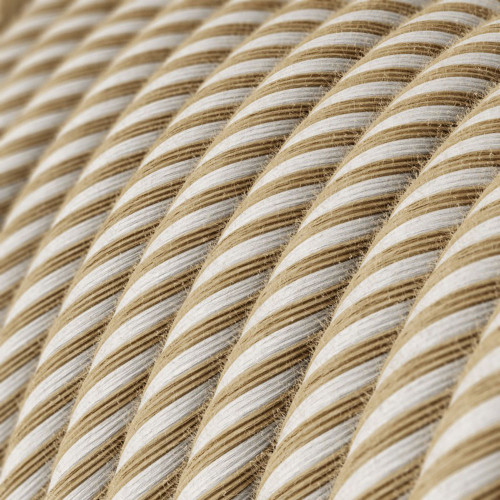 Haswer Jute and Cotton Round Fabric Cable 3 Core 4774531 | Lampspares.co.uk
