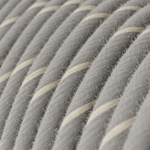 Eggnog Linen and Cotton Round Fabric Cable 3 Core 4774511 | Lampspares.co.uk