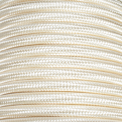 Ivory Round Braided Cable 3 Core PLU70299