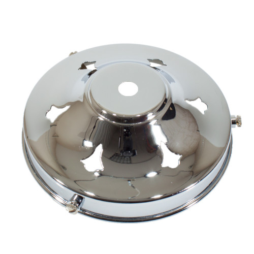 """Chrome 4 1/4"""" Gallery With 10mm Hole 4914326"""