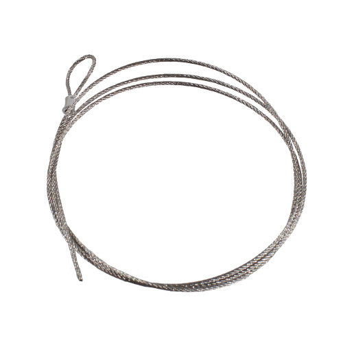 Stainless steel 1.5mm wire rope 1m long with loop 5221342