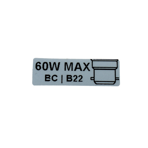 60W Max Wattage With BC Image Sticker Single 5398746 | Lampspares.co.uk