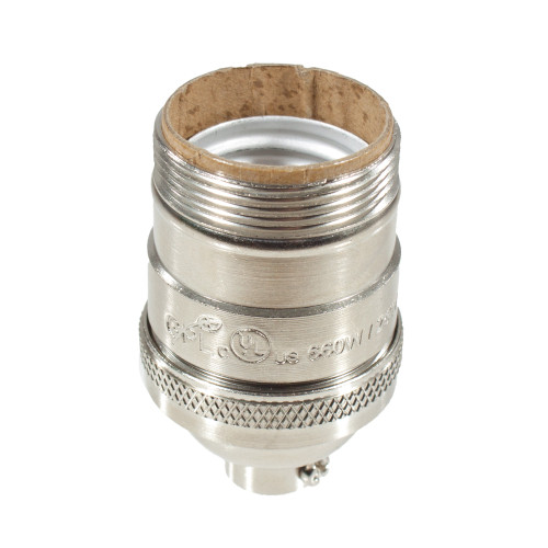 """E26 Nickel Threaded Lampholder With 1/8"""" IP Thread 5555413 