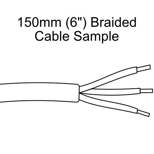 Round - Black Herringbone - 150mm Sample