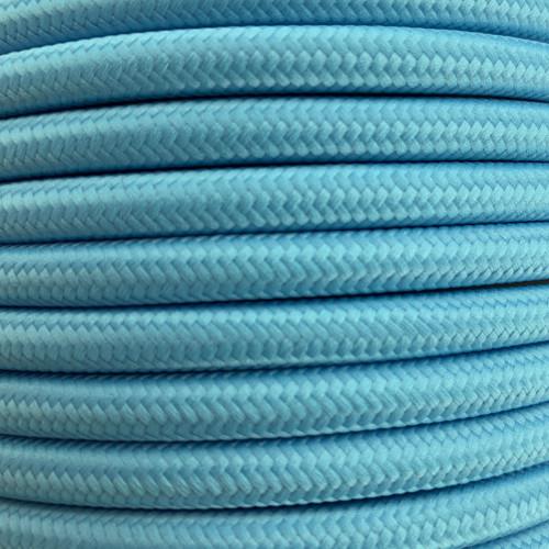Pastel Blue 3 Core Round Fabric Cable 6411766