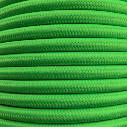 Pastel Green 3 Core Round Fabric Cable 6411768