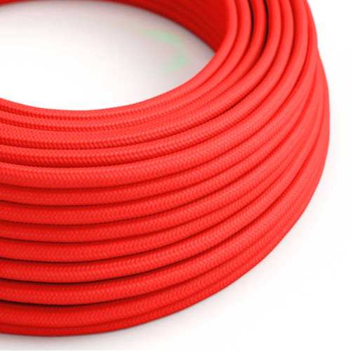 Neon Pink 3 Core Round Fabric Cable 6411773