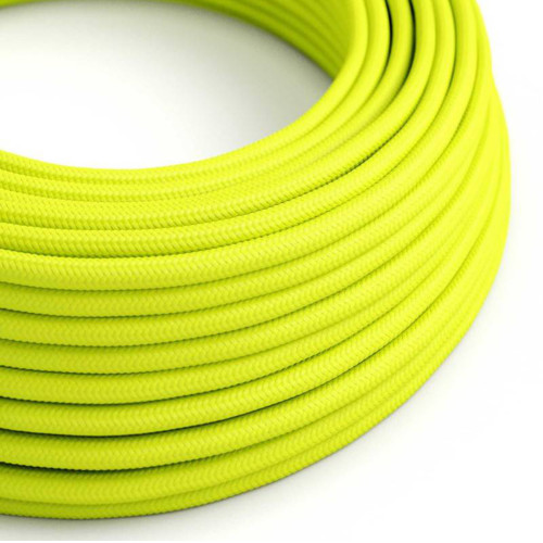 Neon Yellow 3 Core Round Fabric Cable 6411774