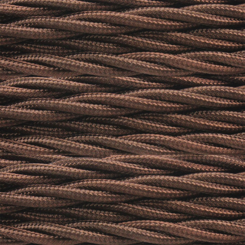 3 Core Braided Dark Brown Individually Twisted 0.75mm PLU38241 | Lampspares.co.uk