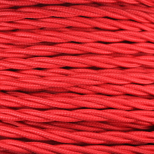 3 Core Braided Red Individually Twisted 0.75mm PLU12322