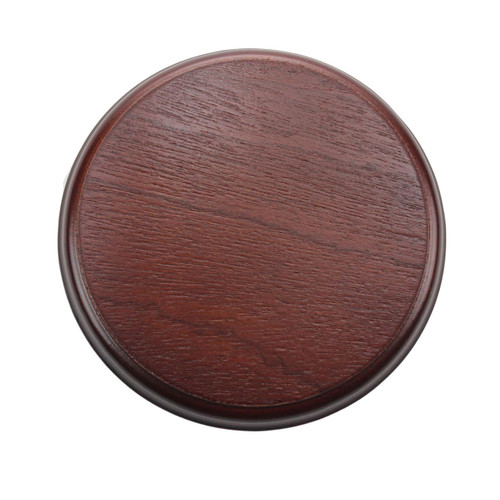 100mm Mahogany Plinth Lamp Base [S7-100 PLU2731] | Lampspares.co.uk