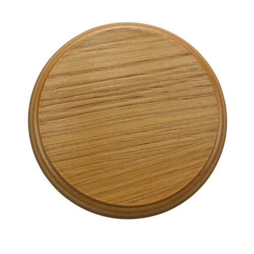 100mm Oak Plinth Lamp Base [S7-100 PLU2141]