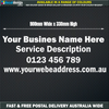 Company Business Advertising Sign 90cm Decal