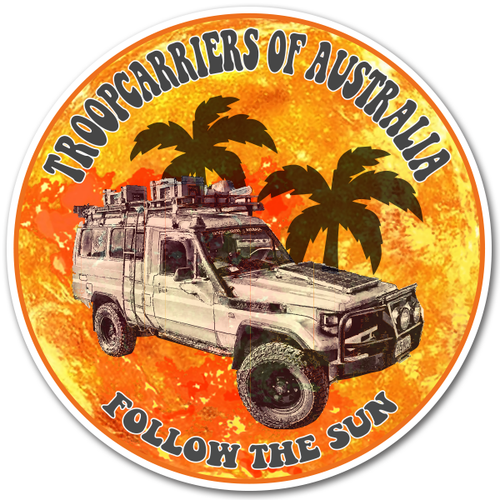 Troopcarriers of Australia Follow The Sun 70 Series 14cm Sticker