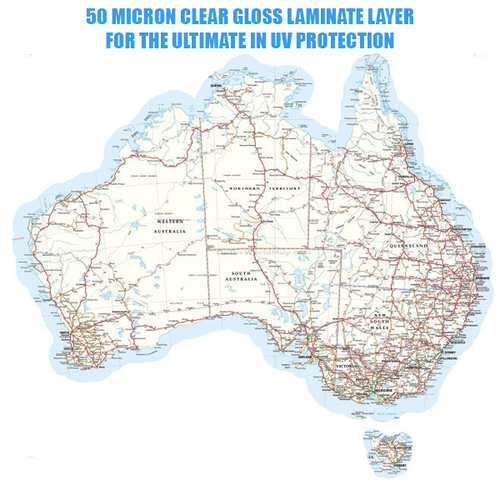 Australia Map Vinyl Decal Gloss Laminated 90cm Wide
