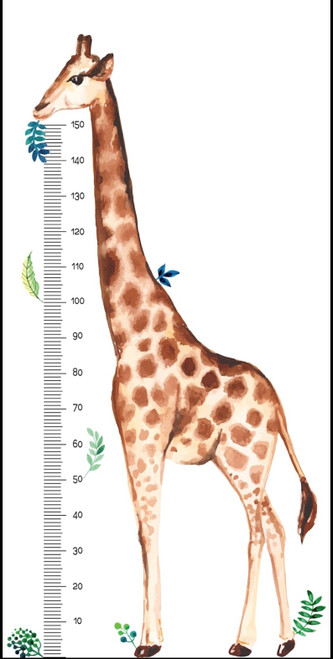 Giraffe Height Chart Removable Wall Decal