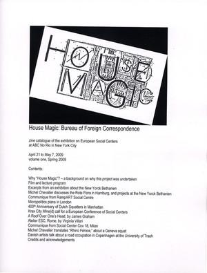 House Magic: Bureau of Foreign Correspondence
