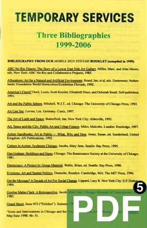 3 Bibliographies [PDF-5]