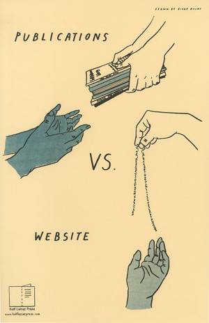 Publications VS. Website poster