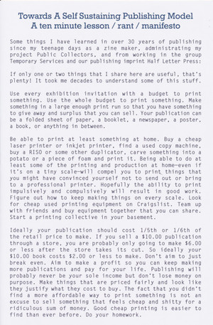 Towards A Self Sustaining Publishing Model (offset edition)