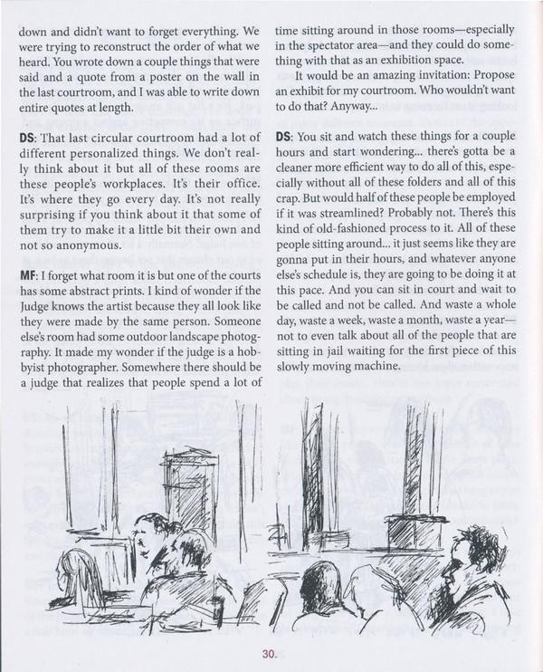 The Courtroom Artist Residency Report: Residencies #1-4