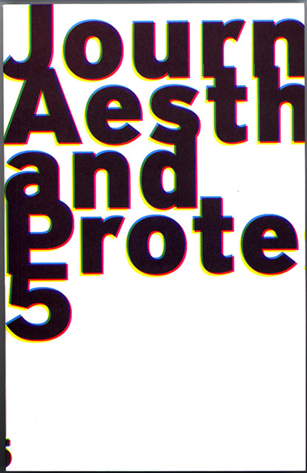 Journal of Aesthetics & Protest 5