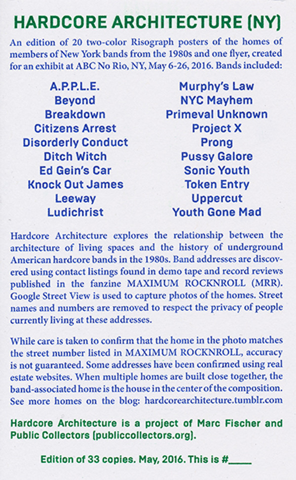 Hardcore Architecture NY Poster Set