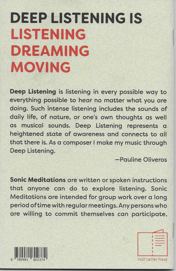 This is the back cover of Sonic Meditations.