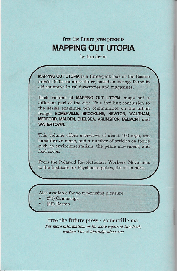 Back Cover of Mapping Out Utopia, Book 3