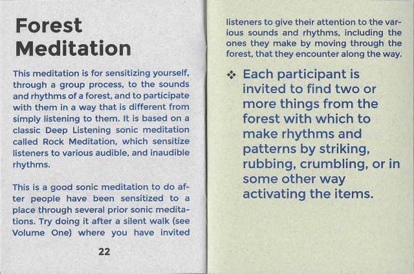Break Down Workbook #4—Sonic Meditations: Immersive Ecological Entanglement, Vol. 2