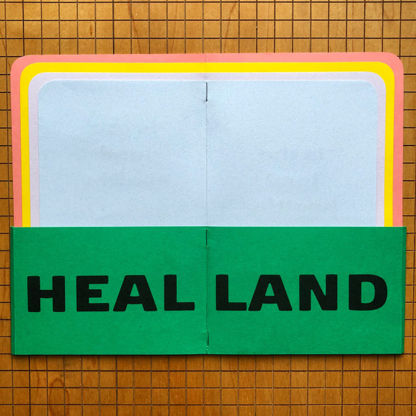 HEAL LAND—view of front and back cover