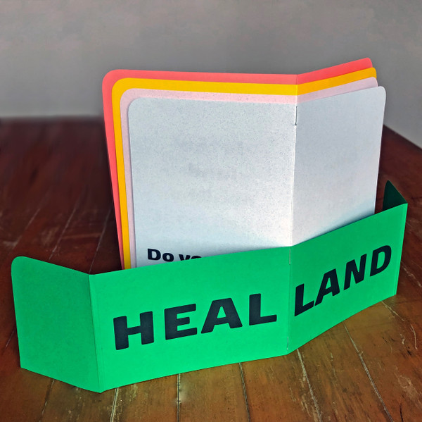 HEAL LAND—opened and standing up