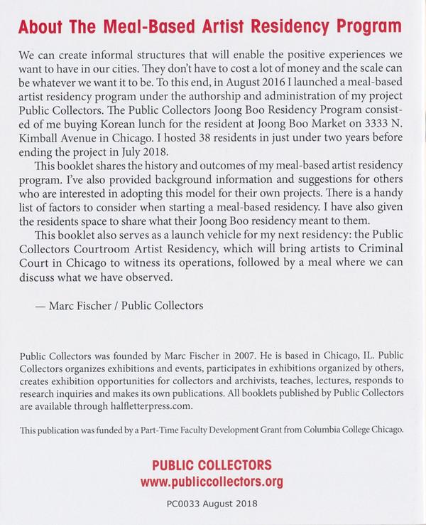 Meal-Based / Courtroom Artist Residency Set