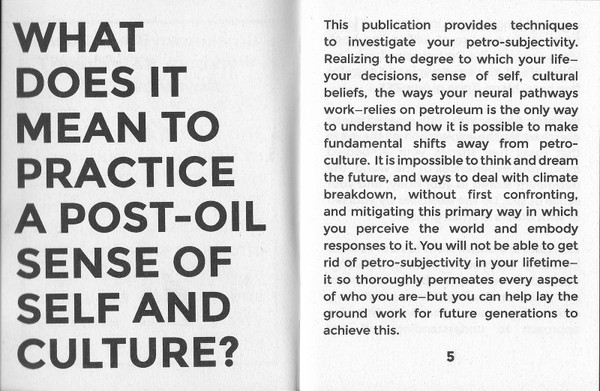 Pages from Workbook #2, Sonic Meditations: Investigating Petro-Subjectivity