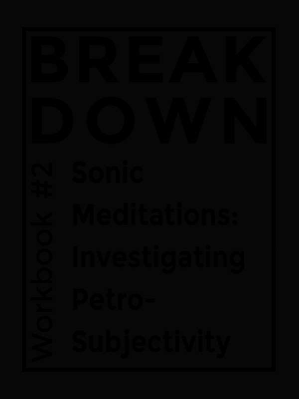 Cover of Workbook #2, Sonic Meditations: Investigating Petro-Subjectivity
