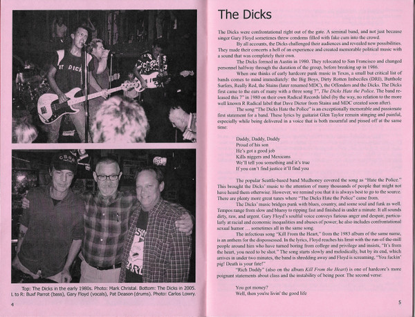 Pages from Temporary Conversations: The Dicks