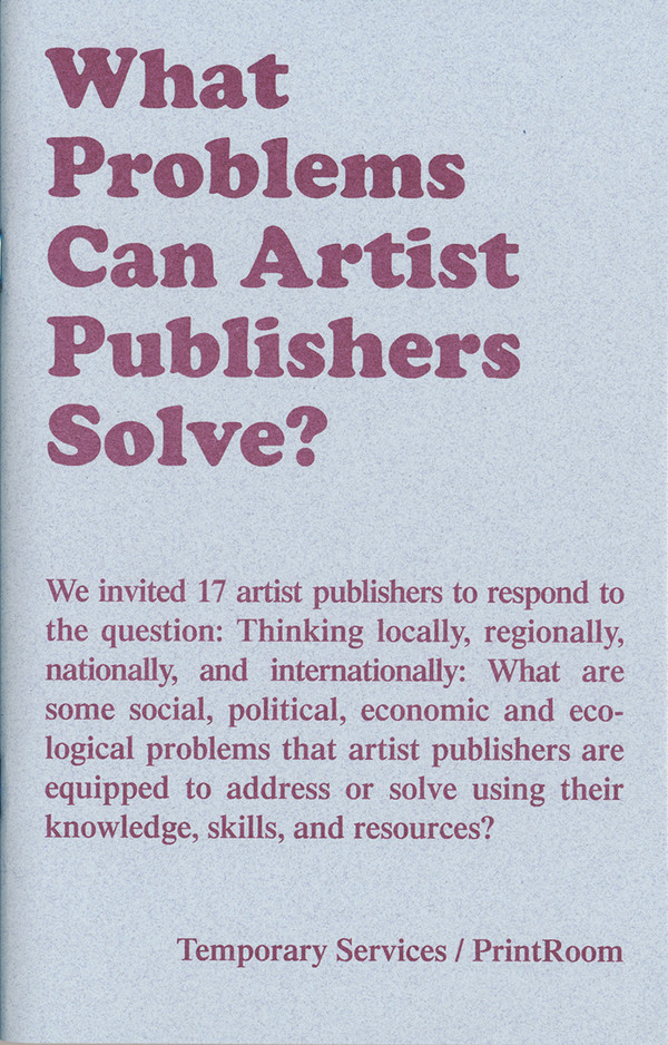 What Problems Can Artist Publishers Solve? [PDF]