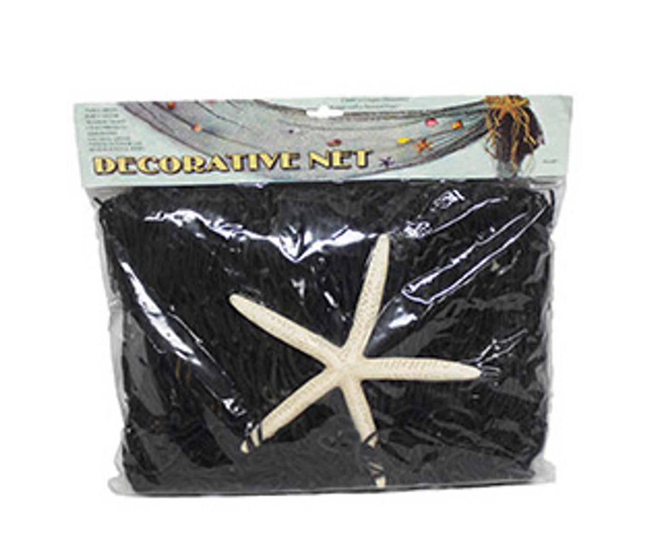 Black Decorative Net 4 x 8 W/Starfish