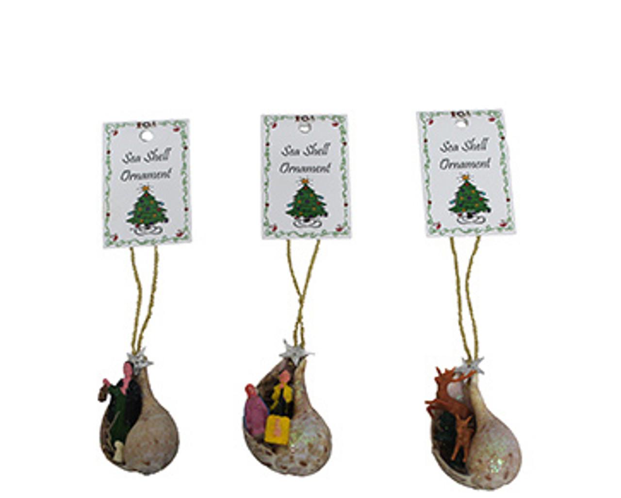 Nativity Ornament On Seashell