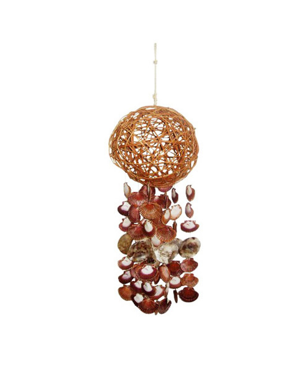 "33"" Sigid Ball Windchime w/ Flats & Saddle Oytsers"